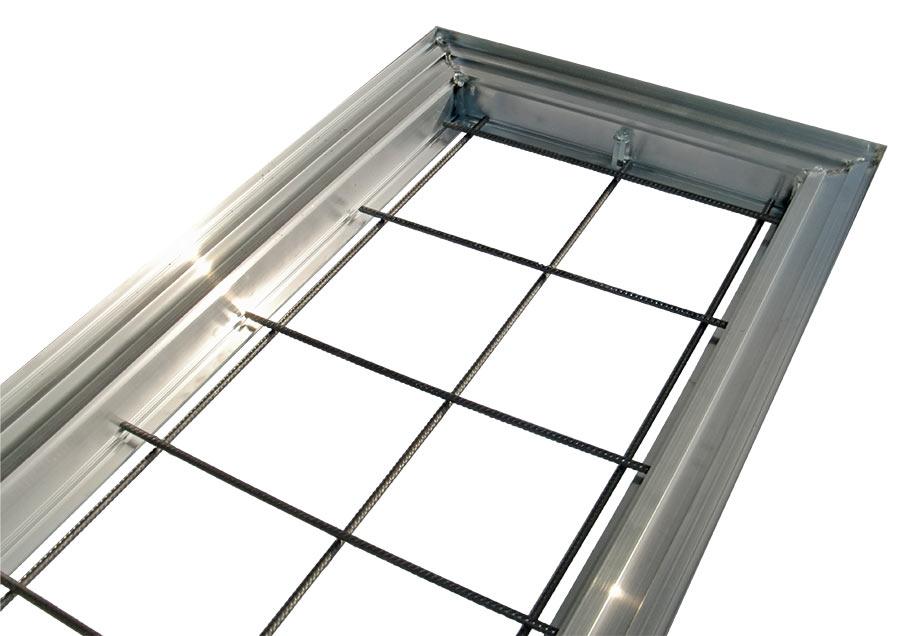 Aluminiumrahmen mit Stahlarmierung
