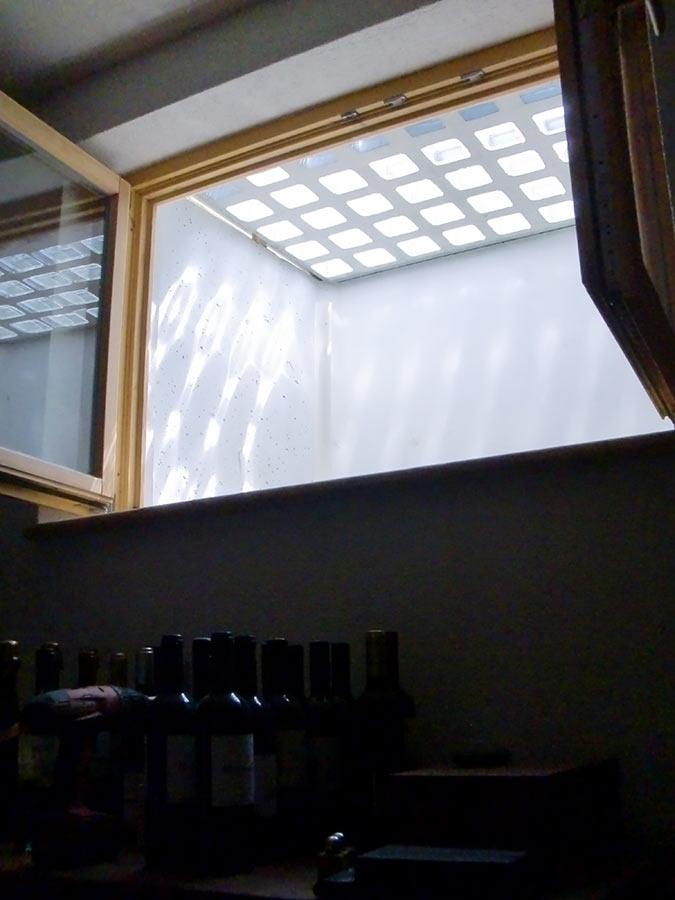 Lichteffekte im Keller